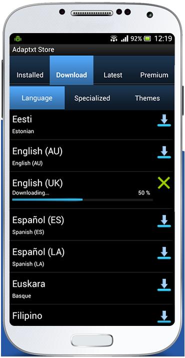 Adaptxt In-app Download