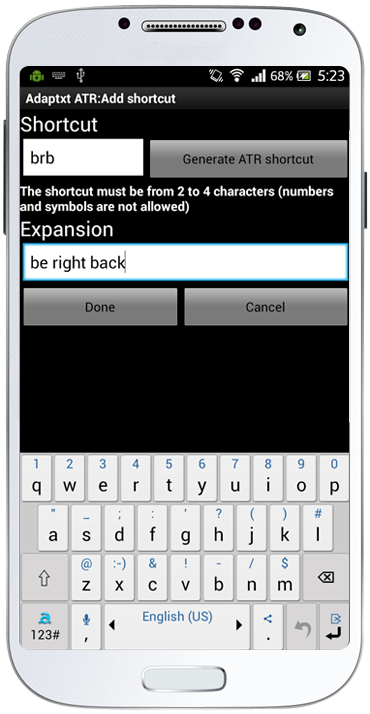 Shortcuts and expansions